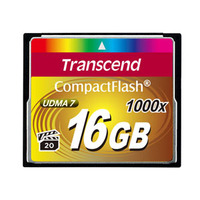 Transcend flashgeheugen: CompactFlash Card 1000x 16GB