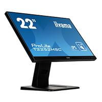 "Iiyama touchscreen monitor: ProLite 54.61 cm (21.5"") , IPS LED, 1920 x 1080, 1000:1, 7 ms, VGA, GDMI, Display Port, ....."