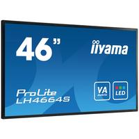 "Iiyama public display: 116.84 cm (46 "") AMVA3 LED, 1920x1080, 16:9, 500cd/m², 6.5ms, 16.7M, 2x12W (Stereo), VGA, ....."