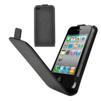 Muvit mobile phone case: iPhone4/4S Slim Case, Black - Zwart