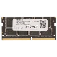 2-Power 16GB DDR4 2400MHz CL17 SODIMM Memory - replaces KCP424SD8/16 RAM-geheugen