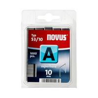Novus A Typ 53/10 superhart nietjes - Roestvrijstaal