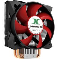 Inter-Tech Hardware koeling: MARS T1 - Aluminium, Zwart, Rood
