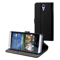 Muvit mobile phone case: Black Slim S Folio For Htc Desire 620 - Zwart