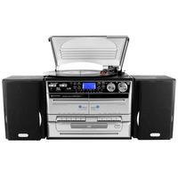 Soundmaster home stereo set: MCD4500 Music center met encoding functie - Zwart, Zilver