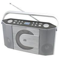 Soundmaster CD-radio: Stereo UKW/CD PLL-radio with MP3-CD - Zilver