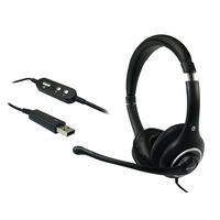 Sandberg headset: Plug'n Talk Headset USB Black - Zwart