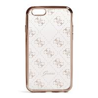 GUESS mobile phone case: Rose Gold-Tone Quattro G iPhone 7 Case - Goud, Transparant