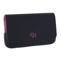 BlackBerry Leather, Folio, black/pink Mobile phone case - Zwart, Roze