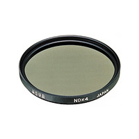 Hoya NDx4 77mm camera filter - Zwart, Grijs