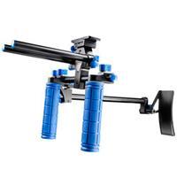 Walimex tripod: pro DSLR Rig Hand & Shoulder Rig RL-00 II - Zwart, Blauw