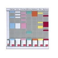 Nobo T-Kaart Planningset Weekplanner 8 Kl. 24 Sleuven planningsysteem - Wit