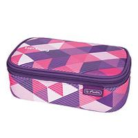 Herlitz potlood case: be.bag beatBox Purple Checked - Roze, Violet, Wit