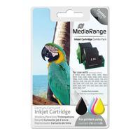 MediaRange inktcartridge: MRL16B26C - Zwart, Cyaan, Magenta, Geel