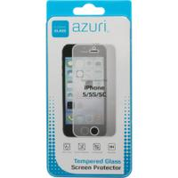 Azuri screen protector: Screen protector Tempered Glass voor Apple iPhone 5 / 5S - Transparant