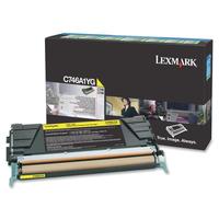 Lexmark cartridge: C746, C748 7K gele retourprogr tonercartr - Geel