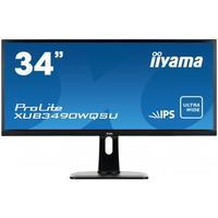"Iiyama monitor: ProLite 86.36 cm (34 "") UWQHD AH-IPS LED 3440 x 1440, USB-Hub 3.0, 320 cd/m²,5 ms, 5000000:1, 21:9, B, ....."