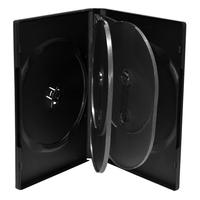 MediaRange : DVD Case for 6 discs, 22mm, black - Zwart