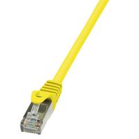 LogiLink netwerkkabel: 0.25m Cat.5e F/UTP - Geel