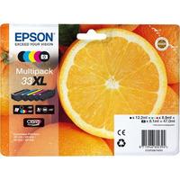 Epson inktcartridge: 33XL CMYK/PHBK 5-pack - Zwart, Cyaan, Magenta, Foto zwart, Geel