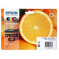 Epson inktcartridge: 33 CMYK/PHBK 5-pack - Zwart, Cyaan, Magenta, Foto zwart, Geel