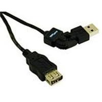 C2G 2m FlexUSB 2.0 A/A Cable USB kabel - Zwart