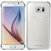 Samsung mobile phone case: Clear Cover voor Galaxy S6 - Zilver, Transparant