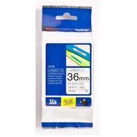 Brother labelprinter tape: 36 mm zwart op witte tape gelamineerd (8 m)