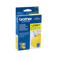 Brother inktcartridge: LC-980Y Inktcartridge geel