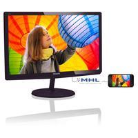 Philips monitor: LCD-monitor met LED-achtergrondverlichting - Zwart, Kers