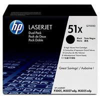HP cartridge: 51X - Zwart - Dual-pack