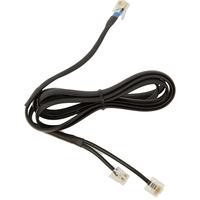Jabra telefoon kabel: DHSG cable - Zwart