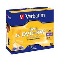 Verbatim 43565 DVD+RW 8cm Matt Silver - 5 Stuks / Jewelcase
