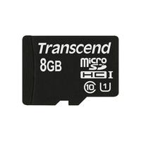 Transcend flashgeheugen: 8GB microSDHC Class 10 UHS-I - Zwart