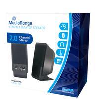 MediaRange Speaker: Compact desktop speaker, black - Zwart
