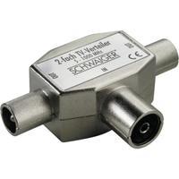 Schwaiger kabel splitter of combiner: ASV42S 531 - Zilver
