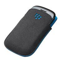 BlackBerry mobile phone case: Microfibre Pocket, Curve 9220/9310/9320 - Zwart, Blauw