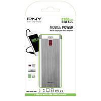 PNY powerbank: PowerPack Digital 5200 - Aluminium