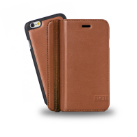 Azuri mobile phone case: Luxe wallet met verwijderbare magnetische cover voor iPhone 6 (camel)