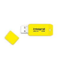 Integral USB flash drive: Neon USB 3.0 32GB - Geel