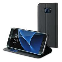 Muvit mobile phone case: Folio stand case for Samsung Galaxy S7 Edge, Black - Zwart