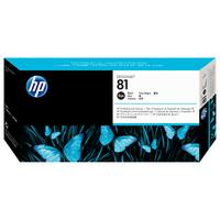 HP printkop: 81 zwarte DesignJet printkop en printkopreiniger voor kleurstofinkt