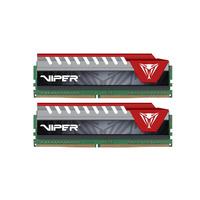 Patriot Memory RAM-geheugen: Viper Elite Series DDR4 16GB 2400MHz - Zwart, Rood