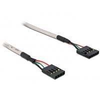 DeLOCK USB kabel: USB Pinheader 4pin/5pin FM/FM - Grijs