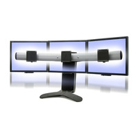 Ergotron LX Series Triple Display Lift Stand monitorarm - Zwart