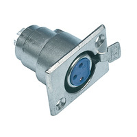 Valueline XLR 3p Chassis Mounting Kabel connector - Zilver