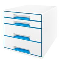 Ladenbox 4 Laden Leitz Wow Wit/Blauw