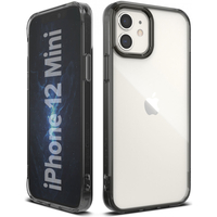 Ringke Fusion Backcover iPhone 12 Mini - Zwart - Zwart / Black Mobile phone case