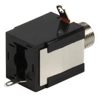 Valueline kabel connector: Jack Mono Female 6.35mm, Black - Zwart
