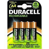 Duracell batterij: NiMH, 1300mAh, AA, 4st - Zwart, Oranje